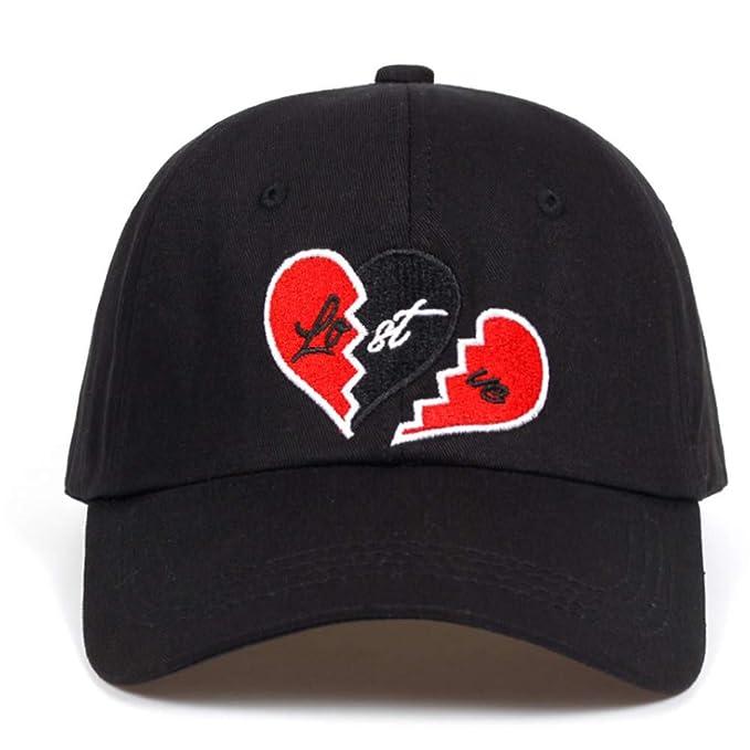 Knncch Amor Perdido Sombrero De Papá Bordado Corazón Roto Gorras De Béisbol Snapback Algodón Negro Gorra De Golf Sombreros Casquette De Garros: Amazon.es: ...