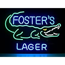 New Foster's Lager Real Glass Neon Light Sign Home Beer Bar Pub Recreation Room Game Room Windows Garage Wall Sign L32