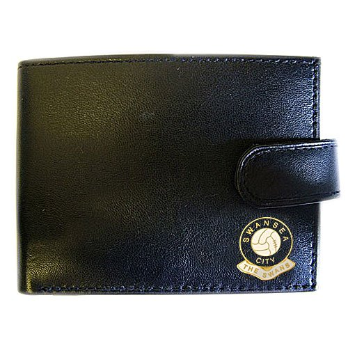 Swansea City Football - Swansea City Football Club Genuine Leather Wallet by Football Club Wallets