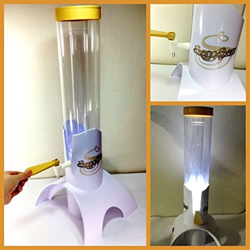 Thai Sangsom Beer Tower (work light + Ice Tube) Singha Dispenser Mobile Tap Beverage Table Top Red Star : 100 Ounce (3 Liter) by WhiteSHOP14