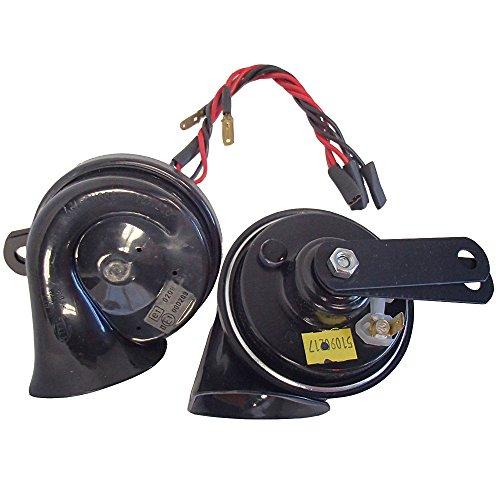 Emission Harness Wiring (Genuine Hella Black Twin Tone 12V Dual Car Horn Loud 110dB Evo WRX BMW)