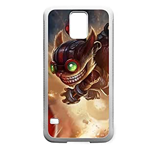 Ziggs-001 League of Legends LoL case cover for Samsung Galaxy S5 - Rubber White