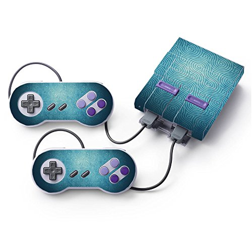 MightySkins Skin Compatible with Nintendo Super NES Classic - Blue Swirls | Protective, Durable, and Unique Vinyl Decal wrap Cover | Easy to Apply, Remove, and Change Styles | Made in The USA
