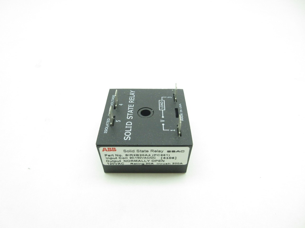 New Abb Sir2b20a4 Pc661 Ssac Solid State Relay 90 150v Ac Dc D584148 Vs Coil Industrial Scientific