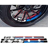 ZHANGYONGEN- Motorcycle Rim Decoration Wheel Reflective Decal Case for BMW R1200GS Adventure R1250GS Adv (Color : A)
