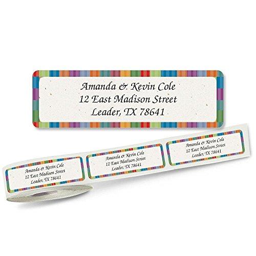 Bright Stripes Rolled Address Label Roll of 250 (Big Address Label Stripes)