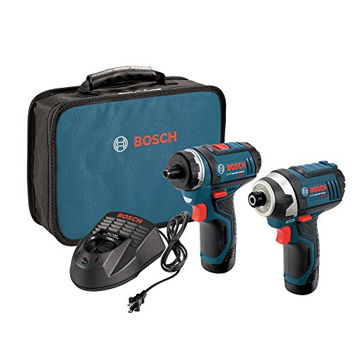 Bosch CLPK27-120 12V Max  2-Tool Combo Kit (Drill/Driver and Impact Driver) with 2 Batteries, Charger and - Bosch Tool Power Charger