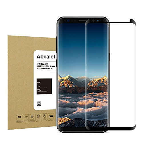 For Galaxy S8 Plus / S8+ Tempered Screen Protector,Abcalet [Case Friendly] [Bubble-Free][Anti-Scratch] Anti-Fingerprint 9H Hardness Ultra HD Clear Film Screen Protector for Samsung Galaxy S8Plus/S8+
