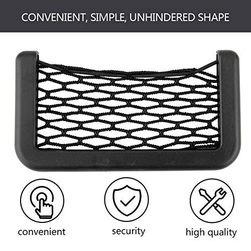 Bolsa de red para el coche Organizador para el autom/óvil Redes 15X8 cm Bolsillos para autom/óviles con visera adhesiva Almacenamiento de la bolsa para el coche para herramientas Tel/éfono m/óvil