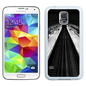 Fashionable Custom Designed Samsung Galaxy S5 I9600 G900a G900v G900p G900t G900w Phone Case With Madrid Subway Black And White Top View_White Phone Case