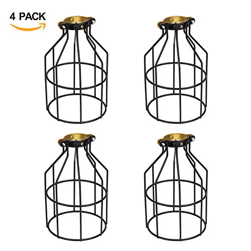 metal lamp guard  industrial vintage wire light cages and