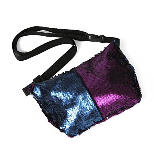 purple sequin fanny pack - 2