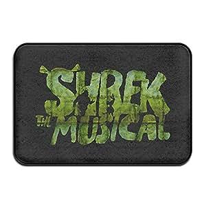 Shrek the Musical Logo antideslizante entrada para interiores/exteriores/puerta delantera/baño mats 60x 40x 1cm