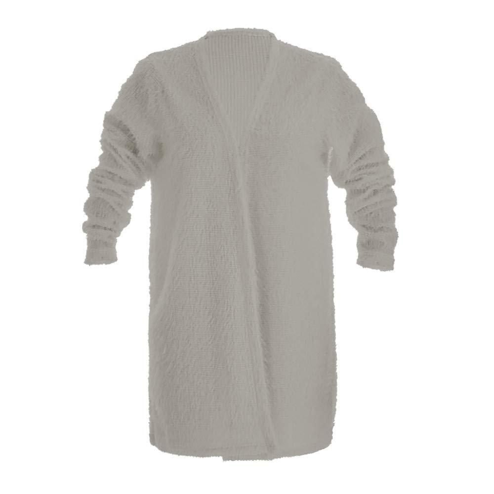 ❤Mosstars Damen Pulli Mantel Flauschiger Wollmantel Pullover Damen Herbst  Winter Jacke Lässige Outwear Parka Cardigan ... 13af6deb3d