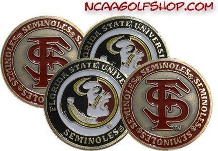 (4) Florida State Seminoles Golf Ball Markers -