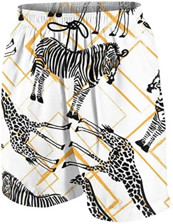 キッズ ビーチパンツ シマウマ キリン サーフパンツ 海パン 水着 海水パンツ ショートパンツ サーフトランクス スポーツパンツ ジュニア 半ズボン ファッション 人気 おしゃれ 子供 青少年 ボーイズ 水陸両用