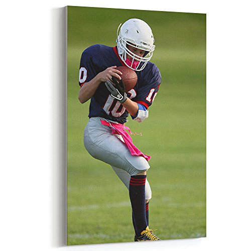 Westlake Art - Football American - 12x18 Canvas Print Wall Art - Canvas Stretched Gallery Wrap Modern Picture Photography Artwork - Ready to Hang 12x18 Inch (19AB-CFA5C)