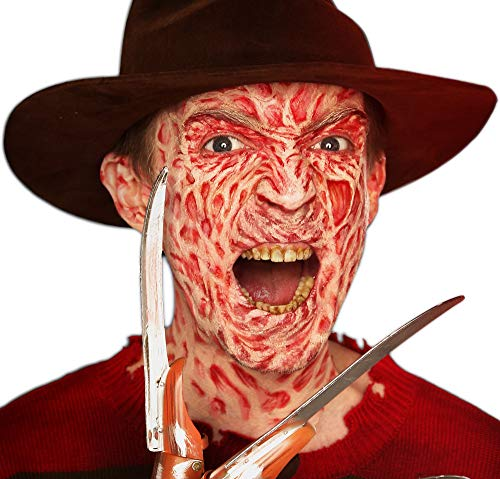 SUIT YOURSELF A Nightmare on Elm Street Freddy Krueger Makeup Supplies for Adults, Include 3 Colors, Transfer, and