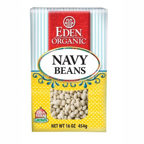 Eden Organic Navy Beans, 16-Ounce Boxes (Pack of 6) by Eden