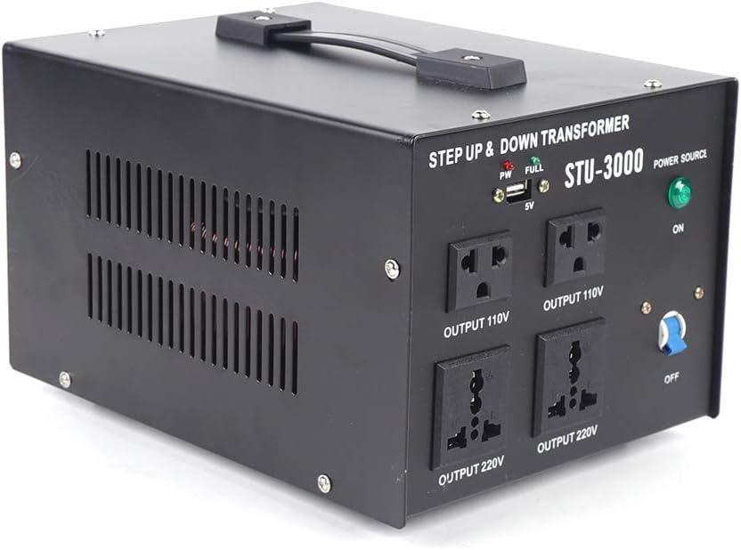 Transformateur USB 3000 W transformateur AC 220 V vers 110 V convertisseur inverter convertisseur au choix pour un usage domestique et des applications industrielles.