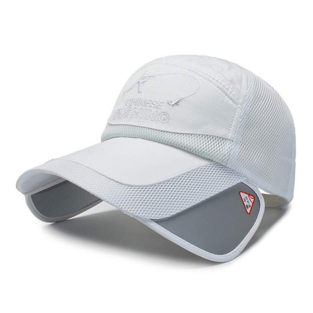 Yhtdhaq Mode /ét/é Mesh Casquette de Baseball Hommes Femmes Plus Large visi/ère Soleil Chapeaux Chapeau de p/êche Chapeau de Loisirs