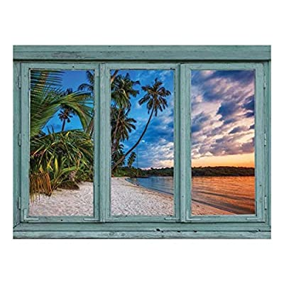 Incredible Artisanship, Crafted to Perfection, Gorgeous Sunset on a Tropical Island Beach Vacation Wall Mural