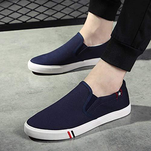 Sport Confort Classiques Mocassins Sport En Pour Tout Toile Enfiler Bleu Chaussures Adultes Pont Baskets De BnTUwqpw