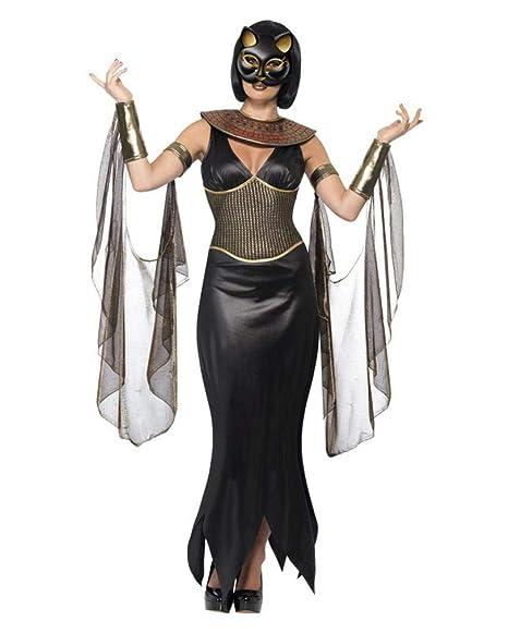 f745a1b4b7 Horror-Shop Traje de Diosa del Gato Egipcio para Las Mujeres M ...