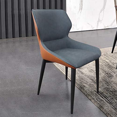 2 sillas de comedor para el hogar, cuero de PU de alta calidad nórdico, esponja de alta densidad, estructura de silla gruesa, trípode de acero al carbono (altura: 830 MM)
