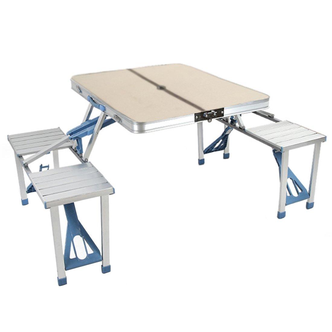 hengfey plegable mesa de picnic W/4 asientos portátil maleta ...