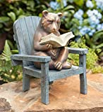 Plow & Hearth Reading Bear Outdoor Garden Statue, 6 L x 5.75 W x 8.75 H Review