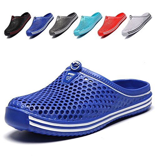 LIGHTEN Garden Shoes Womens Mens Quick-Dry Clogs Comfort Walking Sandals Slippers Non-Slip Beach Shower Water Shoes Blue2 39 Closed Back Clog Slippers