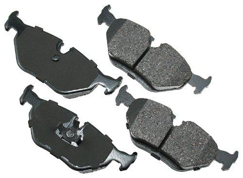 Akebono EUR396 EURO Ultra-Premium Ceramic Brake Pad Set - Bmw 540i Brake Disc