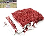 HUELE Professional Training Square Mesh Badminton Net for training and match ,Durable Lightweight and Portable 6m x 0.79m (Darkred)