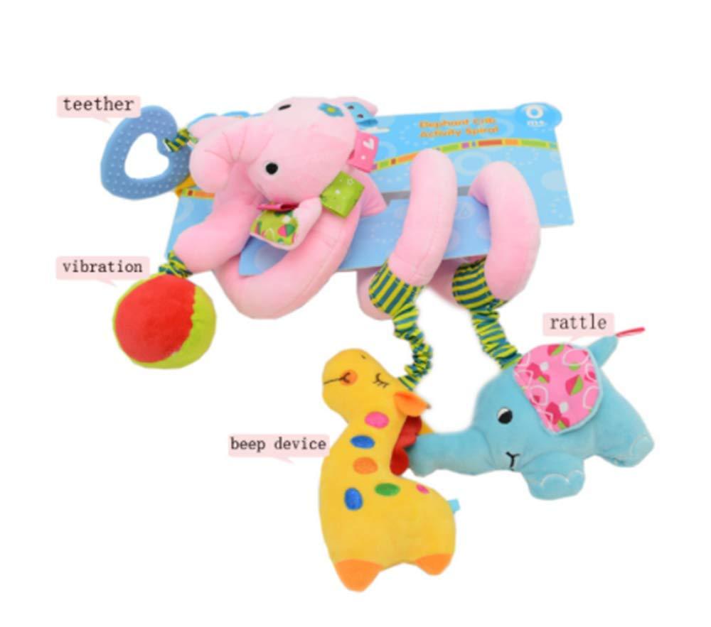 1# Laufgitter anpassbar//F/ür Babys und Kleinkinder ab 0+ Monaten Kinderwagen Babyschale CULASIGN Activity-Spirale Tier//Stoff-Spirale zum Greifen und F/ühlen f/ür Bett