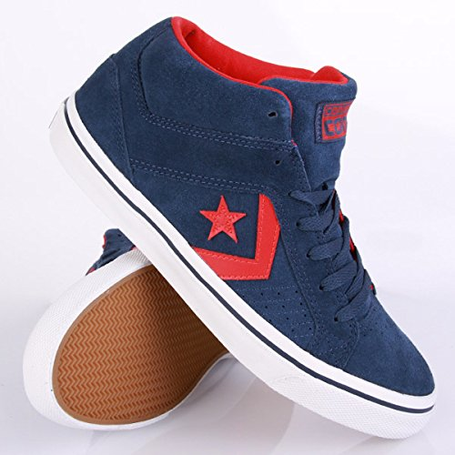 fabb920b8e7942 Converse Gates Mid Navy Red 42  Amazon.co.uk  Shoes   Bags