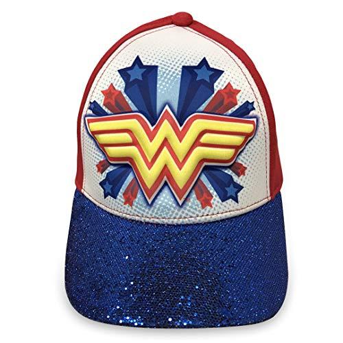 DC Comics Wonder Woman Girls 3D Baseball Cap - 100% Cotton by DC Comics (Image #2)