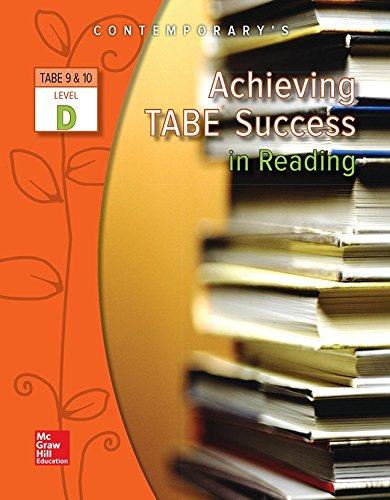 Achieving TABE Success In Reading, Level D Workbook (Achieving TABE Success for TABE 9 & 10) ()
