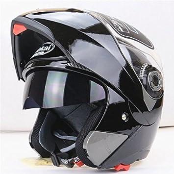 morovan seguro Flip Up – Casco de motorista con interior Sun Visor todos asequible doble lente