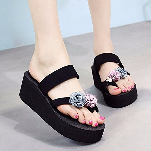 slip Pink tide wear flops Summer slippers feet Beach thick flip beach shoes shoes Korean slippers fashionable sole XZ version and LIUXINDA 4wBqxRnEZp