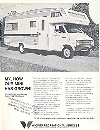 Dodge swinger motor home have thought