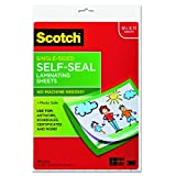 Office Products : Scotch Single-Sided Laminating Sheets, 9 x 12-Inches, Letter Size (LS854SS-10)