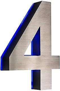 0 1 2 3 4 5 6 7 8 9 a b c d Hausnummer Buchstabe b LED 3D Edelstahl V2A Beleuchtung weiss H/öhe 15cm rostfrei wetterfest Spritzwassergesch/ützt ohne Trafo12 Volt im Shop