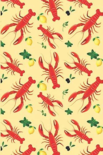 Lobster & Lemon Lined Notebook & Journal