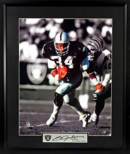 Bo Jackson Raiders Spotlight 16x20 Photograph (SGA Signature Engraved Plate Series) Framed
