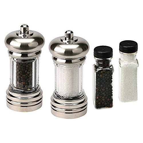 Olde Thompson 5965-90 Maxwell Set, With Sea Salt and Black Pepper Refill (Maxwell Salt)