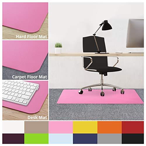 casa pura Office Chair Mats for Carpeted Floors - 30x48 | Carpet Protector Floor Mat, Pink - BPA Free, Odorless | Matching Desk Mats Available