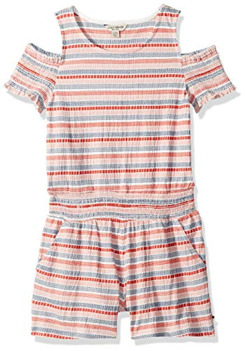 Lucky Brand Big Girls' Fashion Romper, Fiona Spiced Coral, X-Large