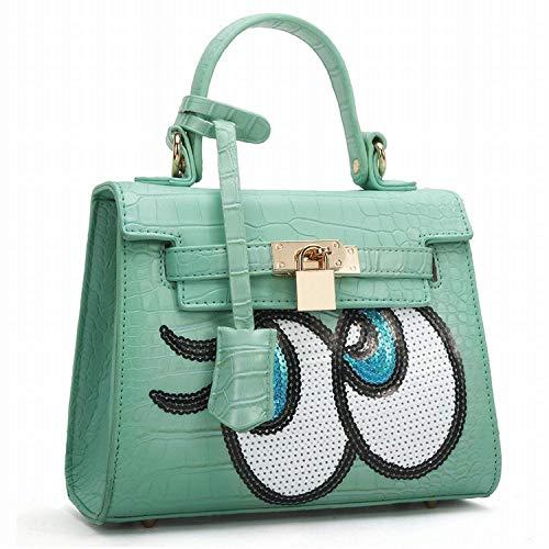 verde dimensioni Fashion blu Messenger Handbags per Shoulder chiaro Women's Moontang colore gxBPzw