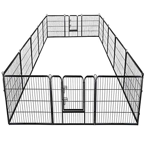 "Giantex 40"" 16 Panel Pet Playpen with Door, Foldable for sale  Delivered anywhere in USA"